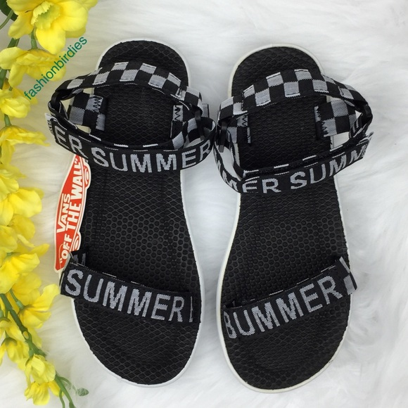 edc7ac5e9b8b Vans Sandalia Summer Bummer Checkerboard Sandals